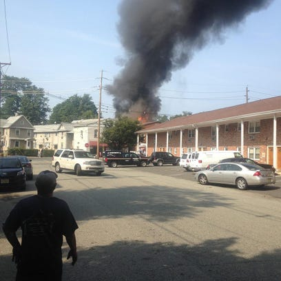 Firefighters are battling blaze on North Avenue in