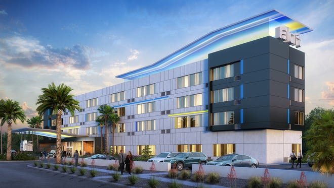 A rendering of the 100-room Aloft Hotel that's scheduled to open in summer 2018.