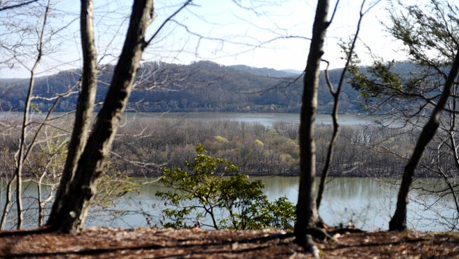Hikers are rewarded with a view of the Susquehanna River once they reach Urey Overlook at the end of this six-mile loop.