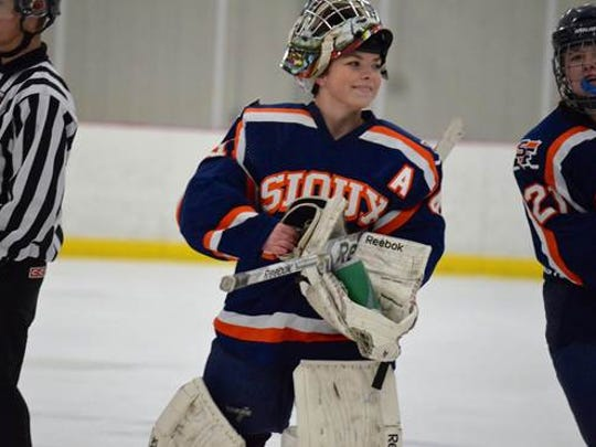 Despite her struggles with depression, Brittany Corcoran was a standout goalie who helped lead the Sioux Falls Flyers to two state titles.