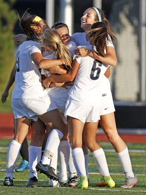 Conestoga Valley celebrates after Gabriella Barone's