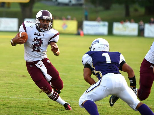 Marston Jones, left, and Stuarts Draft remain second in Group 2A East in this week's VHSL football ratings.