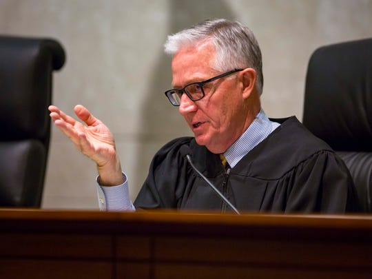 Chief Justice Mark S. Cady at the Iowa Supreme Court on Tuesday, April 10, 2018, in Des Moines, Iowa.