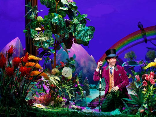 """Christian Borle plays the role of Willy Wonka in """"Roald"""