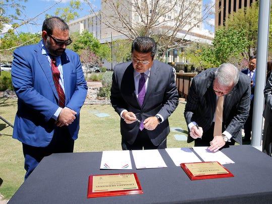 District 1 City Rep. Peter Svarzbein joins Juarez Mayor