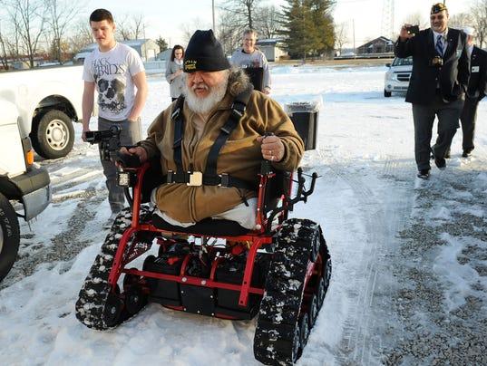 Allterrain wheelchair keeps Vietnam vet moving – All Terrain Chair