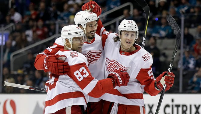 Red Wings have lost seven straight, including a 5-3 defeat in San Jose on Monday. The more they lose, the more their odds of earning a top pick increase.
