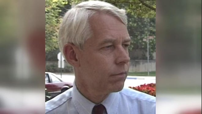 A 1992 image of Dr. Richard Strauss from a WBNS 10-TV video.