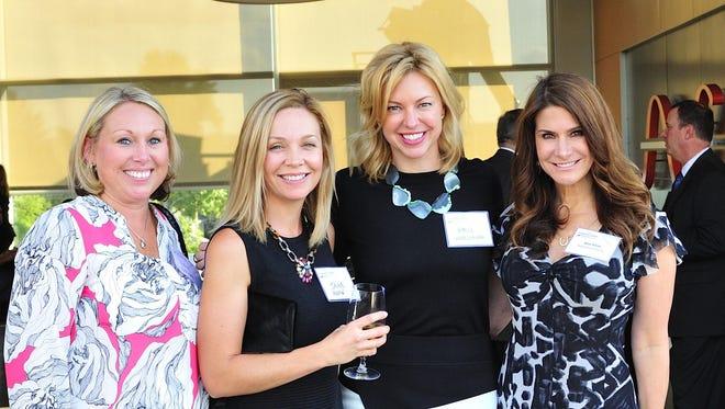 Anne Giday, Jayne Heekin, Amie Wersching and Kim Kline at a previous Dress for Success Cincinnati event.