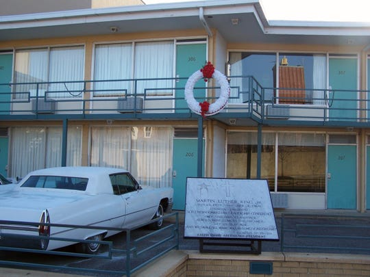 The Lorraine Motel in Memphis houses the National Civil Rights Museum.