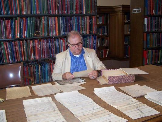 Paul Ganson doing research