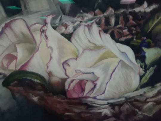 """Gemini Roses"" by Carol Hettinga was named best of show."