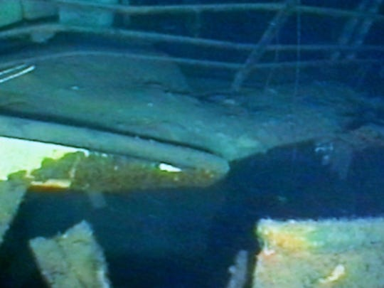 An underwater picture of where the Edmund Fitzgerald lies in Lake Superior. She went down in November of 1975.