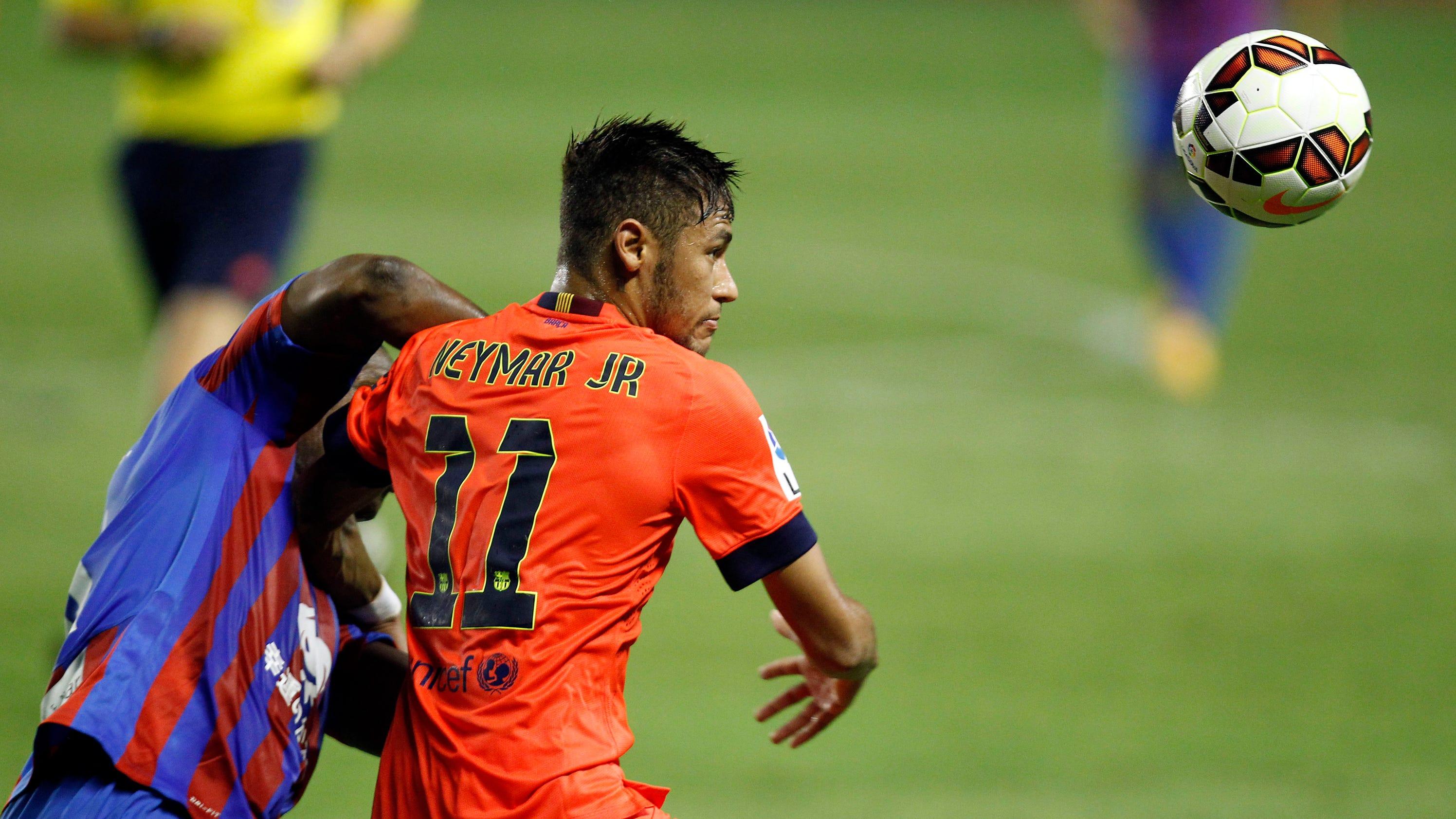 Neymar 39 s leg injury not serious back to training - Firefly barcelona ...