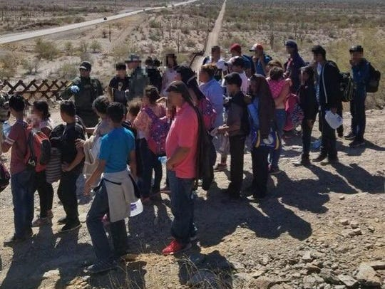 Migrants suffering from dehydration were rescued, then