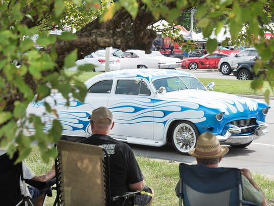 Sh' Boom,  a customized 1951 Ford,  can shoot flames