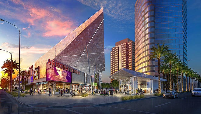 The  $25 million makeover of the Arizona Center in downtown Phoenix includes opening the design.