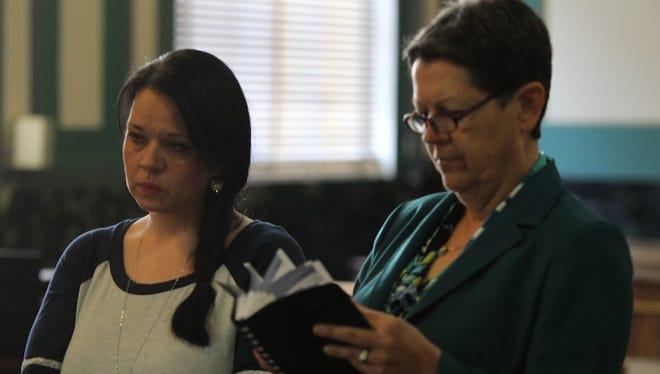 Candida Fluty, left, in court on Wednesday