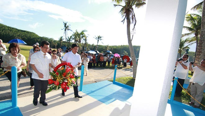 A wreath laying ceremony was held at the Mabini Shrine at the War in the Pacific National Historical Park in Asan Beach on June 14 in honor of Apolinario Mabini as part of the commemoration of the 117th anniversary of proclamation of Philippine independence.