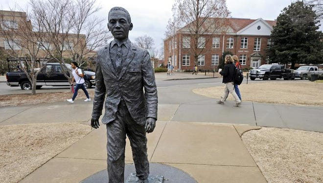 In 2014 a noose was placed around the James Meredith statue on the Ole Miss campus.