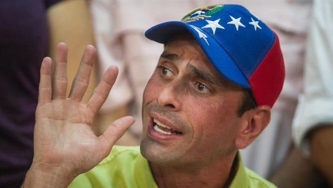 El dirigente opositor Henrique Capriles.