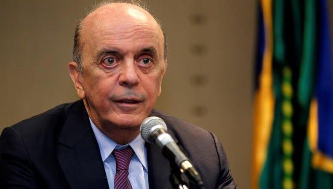 El canciller brasileño, José Serra.