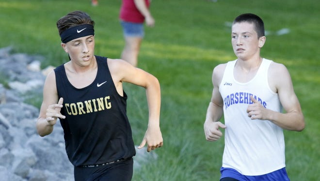 Action from the STAC West cross country championships Sept. 20 at Pirozzolo Park in West Elmira.