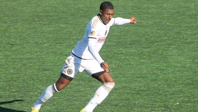Bear resident Mark McKenzie, seen in action here for the Philadelphia Union Academy team, recently played for the United States under-18 team.