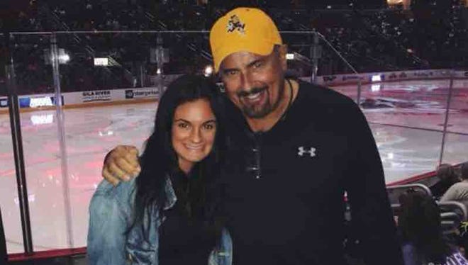 Jenna Tornese and her father, Douglas.