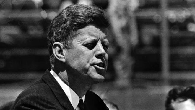 President John F. Kennedy delivers what was called one of history's great declarations of human rights and responsibilities to the crowd at Dudley Field. 5/18/1963