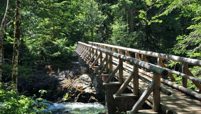Best hikes near Salem and Keizer. No. 1 - Opal Creek Trail. A bridge over Opal Creek leads to the Opal Pool, a popular swimming hole with a natural rock waterslide.