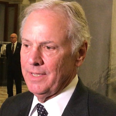 Gov. Henry McMaster talks Wednesday with reporters