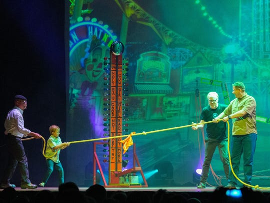 """Audience participation is a part of  """"MythBusters Unleashed."""""""