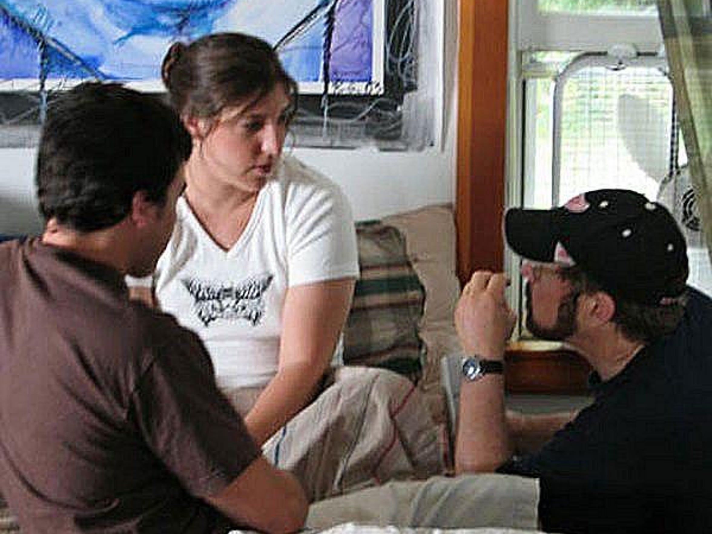 Photo 1 - David directing Mayim Bialik