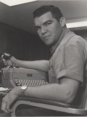 Jerry Lackey, circa 1967, during his early days as a reporter in San Angelo.