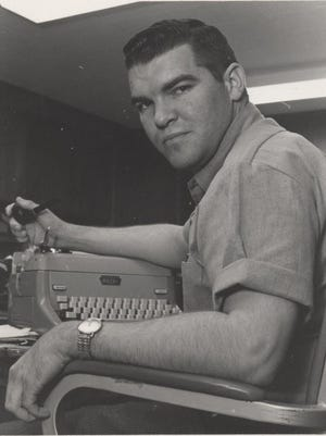 ABOVE: Jerry Lackey, circa 1967, during his early days as a reporter in San Angelo.