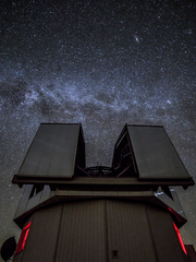 The Milky Way seen above the Discovery Channel Telescope