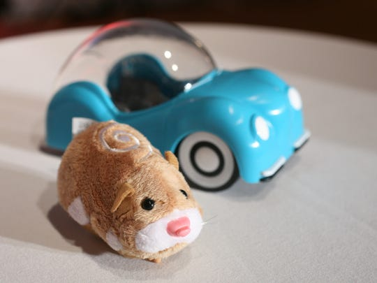 A hamster from Zhu Zhu Pets, by Cepia, is shown at the Time to Play Holiday 2009 Most Wanted List event in New York.