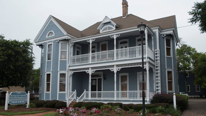 The Overman house, shown here on Thursday, June 1, 2017, was originally built on East Gregory Street and eventually moved to East Government Street.
