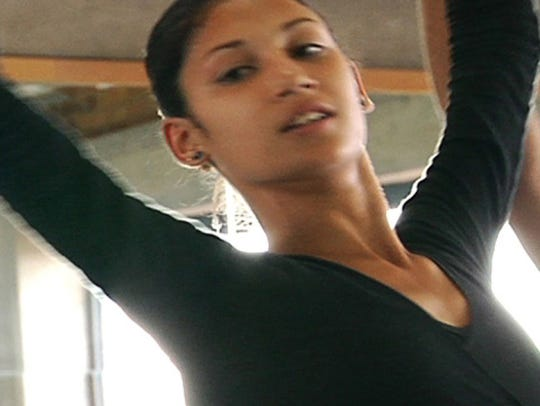 """A young dancer practices her balletic moves in """"Secundaria,"""""""