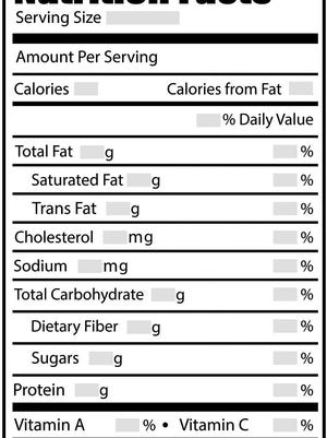 An example of a new Nutrition Facts label.