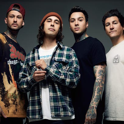Pierce The Veil, left to right: Mike Fuentes, Vic Fuentes,