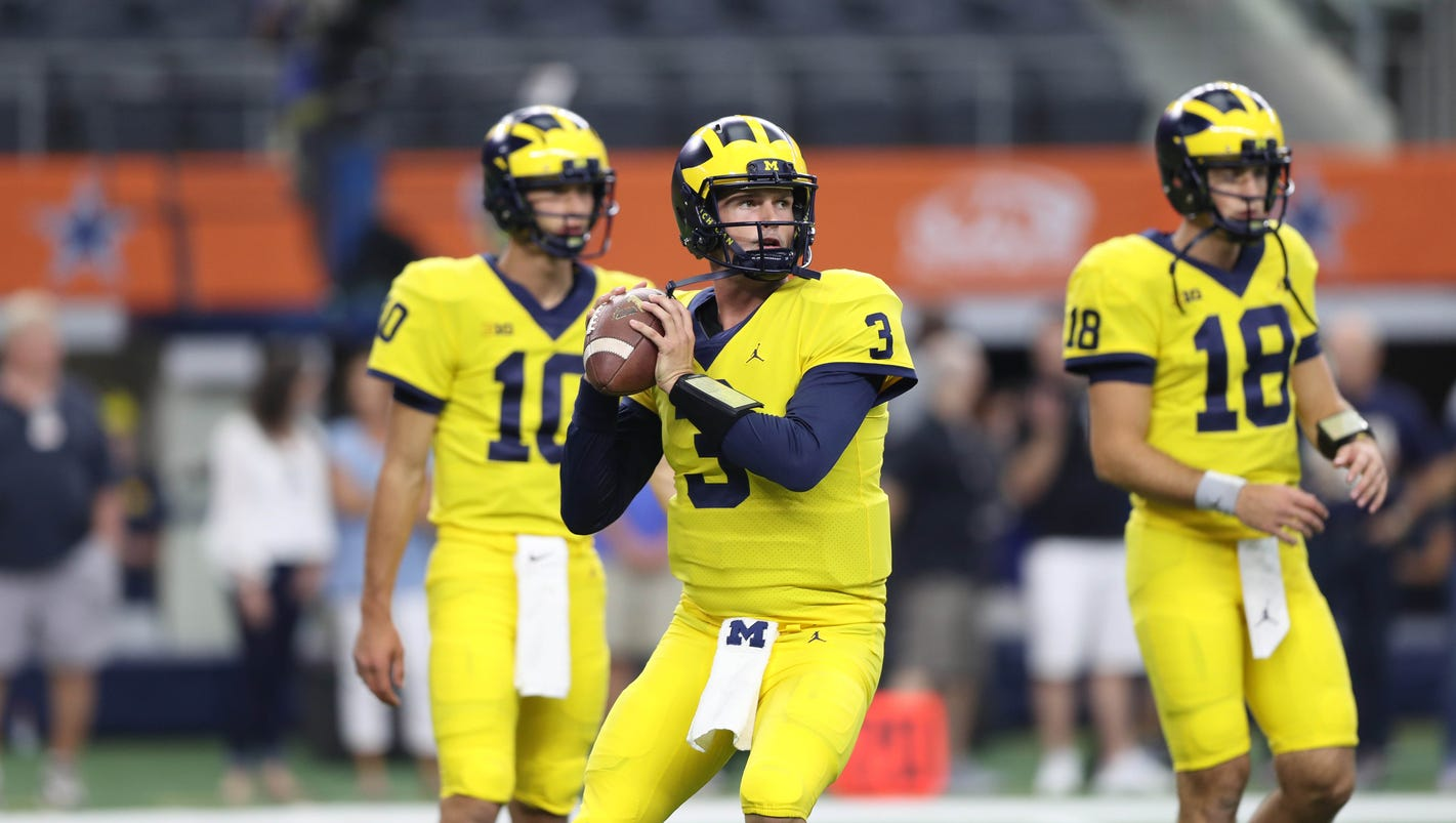 1d8f1f7e3ff Michigan football analysis  Harbaugh rotating Wilton Speight
