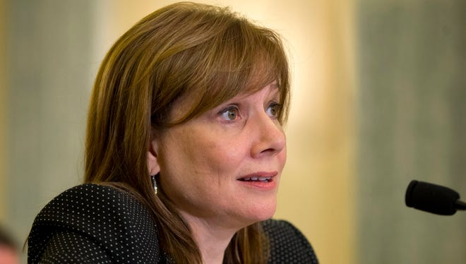 General Motors CEO Mary Barra testifies on Capitol Hill in Washington, on April 2.