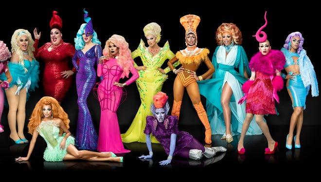 """""""A Drag Queen Christmas: The Naughty Tour"""" features former cast-members of the popular TV show """"RuPaul's Drag Race."""""""