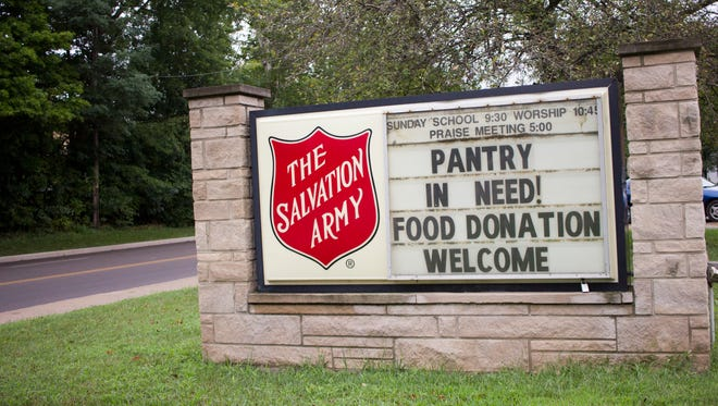 The Salvation Army sign in Muncie