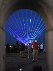 "In this file photo, ""Beach Goes Blue"" was held on  June 4 in downtown Rehoboth Beach. The event is now called Beach Goes Red, White, and Blue."