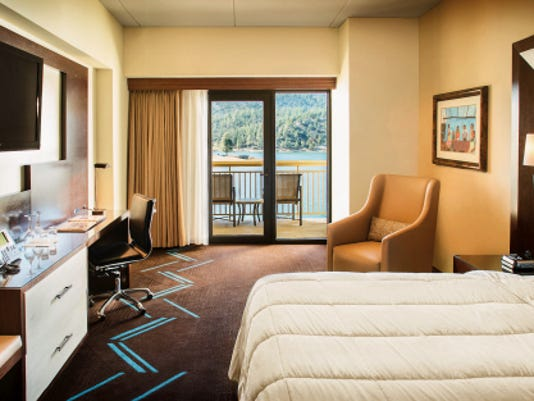 Shown here is one of the 250 newly renovated rooms at the Inn of the Mountain Gods.