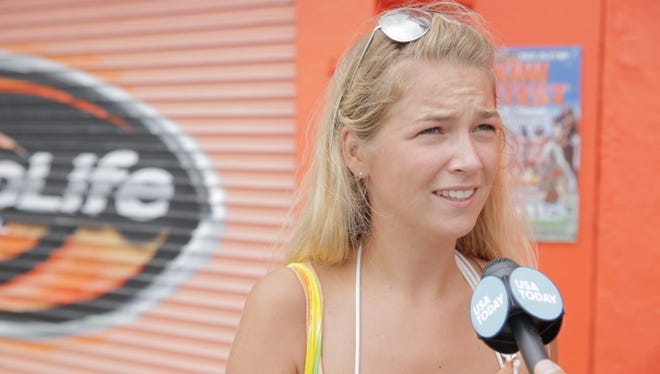 Becky Hall, from England, stayed on couches for 3 months this summer, via the Couchsurfing website and app.