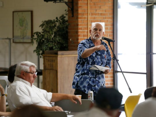 Joe Morales of Vestal speaks during the Community Voice